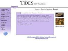 Native Americans of Texas Lesson Plan