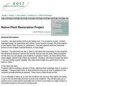 Native Plant Restoration Project Lesson Plan