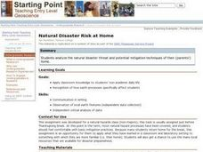 Natural Disaster Risk at Home Lesson Plan