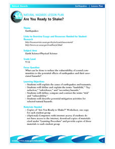 Natural Hazards-Are You Ready to Shake? Lesson Plan