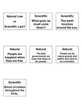 Natural Law or Scientific Law? Lesson Plan