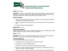 Natural Selection in Protected And Unprotected Populations Lesson Plan