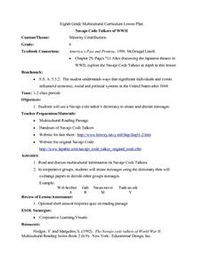 Navajo Code Talkers of WWII Lesson Plan