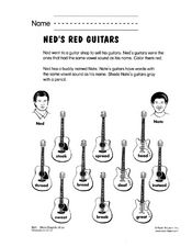 Ned's Red Guitars Worksheet