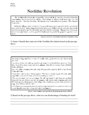 neolithic revolution worksheets switchconf neolithic revolution worksheets worksheets library