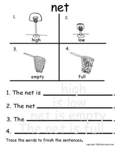 Net - With Traced Answers Worksheet