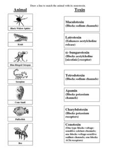 Neurotoxin Worksheet