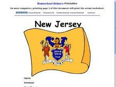 New Jersey Worksheet Worksheet
