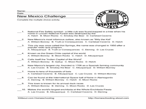 New Mexico Challenge Worksheet