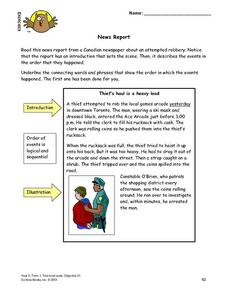 New Report Lesson Plan