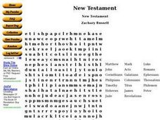 New Testament Worksheet