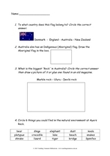 New Zealand and Australia Worksheet