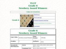 Newbery Award Winners Lesson Plan