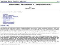 Newhallville:A Neighborhood of Changing Prosperity Lesson Plan