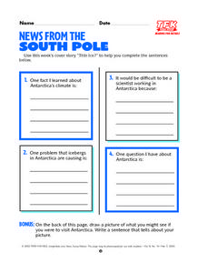 News From The South Pole Lesson Plan