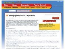 Newspaper for Inner City School Lesson Plan