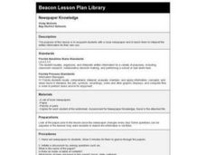 Newspaper Knowledge Lesson Plan