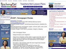 Newspaper Poems Lesson Plan
