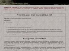 Newton and The Enlightenment Lesson Plan