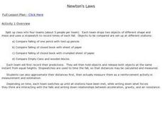 Newton's Laws 8th Grade Activities Lesson Plan