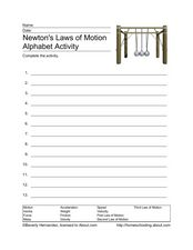 Newton's Laws of Motion Worksheet