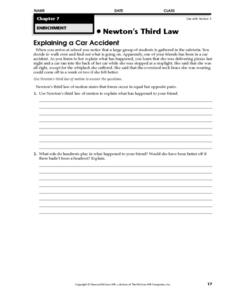 Newton's Third Law Worksheet