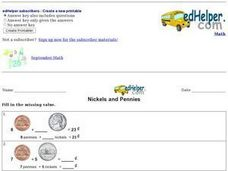 Nickels and Pennies Worksheet