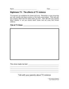 Nightmare T.V.: The Effects of T.V. Violence Lesson Plan