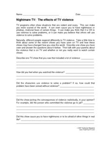 Nightmare TV: The Effects of TV Violence Lesson Plan