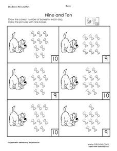 Nine and Ten Worksheet