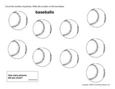 Nine Baseballs Worksheet