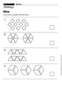 Nine  challenge Worksheet