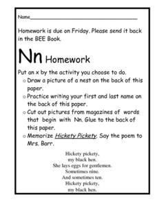 Nn Homework Worksheet