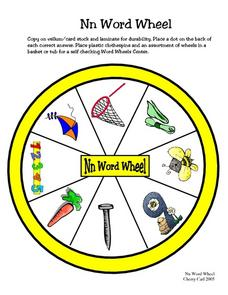 Nn Word Wheel Worksheet