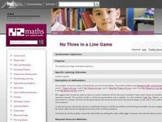 No-Three-In-A-Line Game Lesson Plan