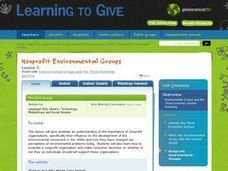 Nonprofit Environmental Groups Lesson Plan