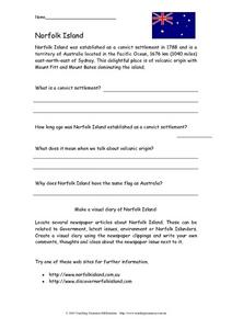 Norfolk Island Activity Worksheet