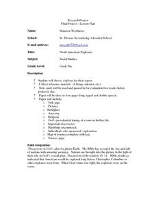 North American Explorers Lesson Plan