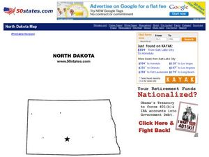 North Dakota Map Worksheet