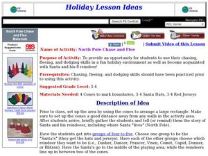 North Pole Chase and Flee Lesson Plan