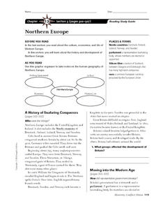 Northern Europe Worksheet