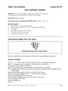Not Hurting Others Lesson Plan