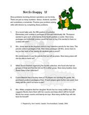 Not So Snappy 12- Word Problems Lesson Plan