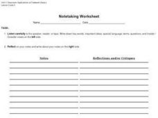 Notetaking Worksheet Worksheet
