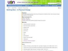 Nothing New? A Physical Change Lesson Plan