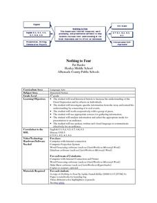 Nothing to Fear Lesson Plan