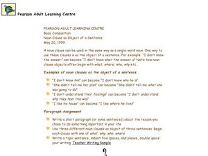 Worksheet Noun Clause Worksheet noun clause as object of a sentence 4th 8th grade worksheet sentence