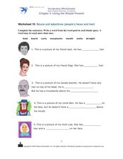 Nouns and Adjectives Worksheet