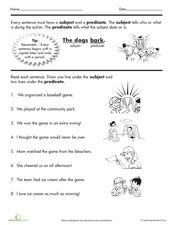 Nouns and Verbs Worksheet