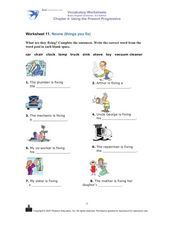 Nouns (Things You Fix) Worksheet